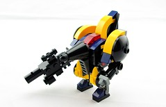 Mohawk P-51 Officer Colors (Deltassius) Tags: war lego space military frame scifi mecha mech mf0