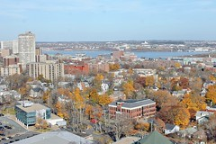 View of Halifax in fall from the Burke-Gaffney Observatory at Saint Mary's University (^ Johnny) Tags: from autumn fall saint university novascotia view observatory marys loyola astronomy halifax smu halifaxharbour hrm loyolaresidence burkegaffney burkegaffneyobservatory
