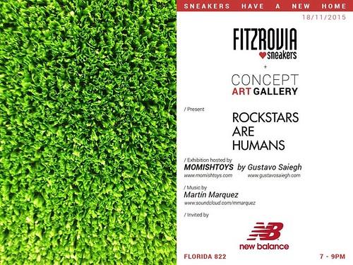 "Tienda Fitzrovia + Concept Art Gallery presentan: ""ROCKSTARS ARE HUMANS"" by Gustavo Saiegh."