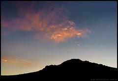 Nubes sobre el Macoyó al atardecer