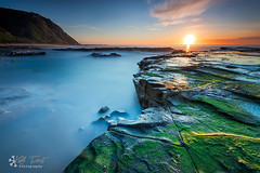 Burwood Beach (Kiall Frost) Tags: longexposure blue red sun green water newcastle landscape photo nikon rocks australia le burwoodbeach kiallfrost d800e