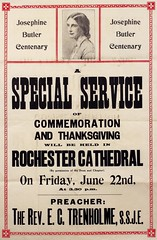 Poster : Josephine Butler Centenary. A special service of commemoration, 1928.