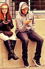 (ManontheStreet2day) Tags: boy hoodie crotch twink sneakers nike jeans cap bluejeans bulge