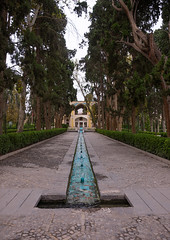 shotor galou-e-shah abbasi in fin garden, Isfahan Province, Kashan, Iran (Eric Lafforgue) Tags: travel building tree tourism water fountain pool vertical architecture garden outdoors persian iran turquoise middleeast nobody nopeople landmark courtyard artificial unescoworldheritagesite pavilion iranian geography kashan geographic islamicarchitecture persiangulfstates fingarden watercanal cedartrees  fulllenght  16723 colourimage  iro isfahanprovince  baghefin westernasia  solomonspring bagdefin historicwalledgarden shotorgaloueshahabbasi thehsoleymaniehspring