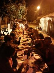 Cena condivisa al Novenario di San Giovanni a Ghilarza (foto Roberta Medini)