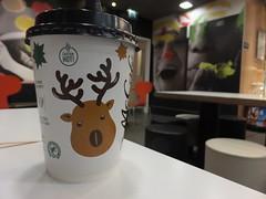Don't laugh (stevenbrandist) Tags: travel coffee breakfast restaurant bean mcdonalds antlers stokeontrent latte midlands