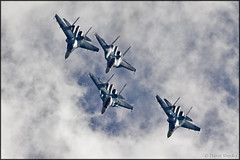"""Russian Falcons"" Su-30SM + Su-27P (Pavel Vanka) Tags: sky clouds plane airplane fighter russia aircraft jet formation airshow su30 spotting aerobatic demoteam sukhoi spotter su27 flanker kubinka displayteam su27p formationflight russianairforce uumb russianfalcons sokolyrossii falconsofrussia su30sm army2015"