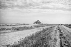Le Mont Saint-Michel (lukedrich_photography) Tags: road france building history beach abbey architecture canon fence island sand frankreich europa europe european view mud scenic culture tourist medieval unesco worldheritagesite flats monastery normandie normandy francia westerneurope causeway montsaintmichel   rpubliquefranaise    frenchrepublic             t1i canont1i