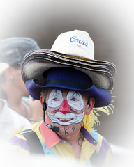 Portrait of a Clown (L E Dye) Tags: canada rural nikon alberta rodeo prairie coulrophobia rodeoclown d5100 ledye 54illustrateaphobia 115picturesin2015