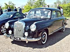 288 Mercedes 220SE (W128) (1960) (robertknight16) Tags: mercedes 1960s germany ponton w1281 w111 donington 84cym