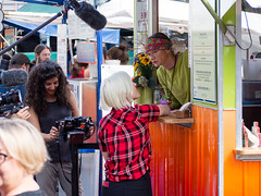 That time Hannah Hart came to film her new Food Network show (marketkim) Tags: foodcourt famouspeople eugene oregon saturdaymarket festival artfair eugenesaturdaymarket artfestival