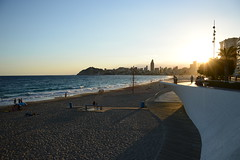 Poniente Beach - Benidorm. (rni Gudjon) Tags: sunset poniente beach spain