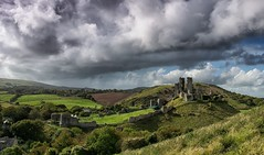 Sunshine and showers. (Greatdog) Tags: dorset clouds cloudsstormssunsetssunrises corfe corfecastle landscape