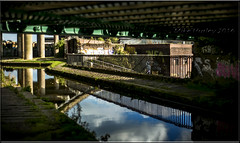 Sandwell Back.  Explored.  15-10-2016. (-Metal-M1KE-) Tags: canal birminghamcanal sandwell concrete water industry blackcountry columns towpath westmidlands