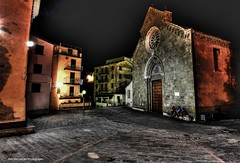 late night conversation (3 men by the church) (Rex Montalban Photography) Tags: rexmontalbanphotography manarola italy cinqueterre nightscene