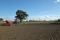 CAT & GM Thornton-le-Moor, Northallerton (DieselDude321) Tags: 66712 class 66 gbrf 4n96 1315 drax tyne coal terminal gm caterpillar tractor seed drill mt765c cat challenger