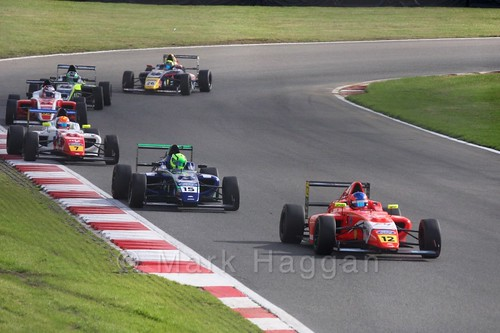 Ayrton Simmons in British F4 during the BTCC Brands Hatch Finale Weekend October 2016