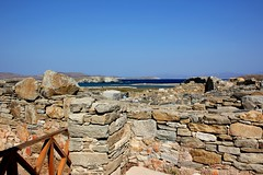 ancient town of Delos (ika_pol) Tags: delos dilos delosisland unesco worldheritage cyclades cycladesislands greekisland greece aegean sea aegeansea mediterranean apollo artemis leto myth mythology museum delosmuseum apollosanctuary geotagged ancientruins