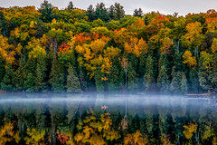 Smoke on the Water (AaronP65 - A sincere thnx for over 1 million views) Tags: cottage autumn colors water fog