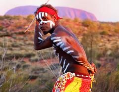 Aboriginal Warrior (Steve Eagles) Tags: steveeagles solo aboriginal warrior australia ok looking canon6d travel ayres rock native portrait