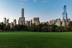 Sheep Meadow (Amar Raavi) Tags: sheepmeadow centralpark lawn green skyscrapers midtown manhattan newyorkcity nyc ny newyork unitedstates cityscape outdoors morning dawn america park city citypark
