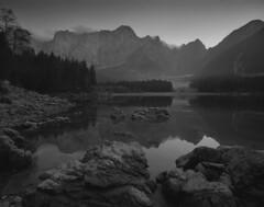 Lago superiore di Fusine (Black and White Analog Landscape Photography) Tags: fusine italy ilford italia landscape lake friuli film analogue paesaggio