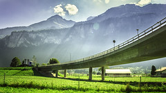 On the way to the Bridge GOMS, Switzerland (oksana_korda) Tags: bridge mountains swit roadtrip landscape beautifulplace