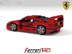 Ferrari F40 Berlinetta (lego911) Tags: ferrari f40 berlinetta 1987 1980s v8 turbo sports sportscar supercar italy italian auto car moc model miniland lego lego911 ldd render cad povray lugnuts challenge 108 9th birthday lugnutsturnsnine turns nine 70 redo redemption redoandredemption