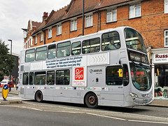 Arriva London Platinum Bus (Katy/BlueyBirdy) Tags: bus londonbus doubledeckerbus platinum arrivalondon speciallivery greenlanes winchmorehill n21 northlondon enfield london hv64 payrollgiving 329 329busroute 329bus