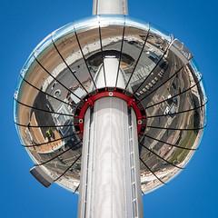 Bottoms Up (Sean Batten) Tags: reflection brighton england unitedkingdom gb architecture i360 nikon d800 60mm blue city urban