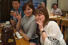 v(^^) (^^)v (kasa51) Tags: people restaurant woman peace yokohama japan night