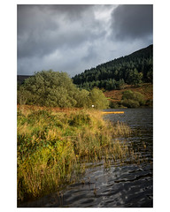 Waters Edge (Manxscape Photography) Tags: reservoir water andrewhaddock autumn rushes reeds landscape isleofman manx manxscape nikon 2470 28 jetty