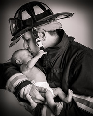 hero (soul pixie) Tags: fireman baby sweet love life hero rescue blackandwhite canon6d alienbees portrait uniform kearstenleder
