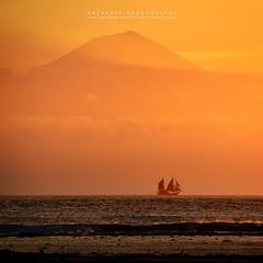 pirate ship (azrudin) Tags: boat lombok mountain sea sunset sunny bali island alone azrudinphotography