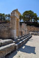 Fountain Square (lGBSl) Tags: ancient square plinth arch steps fountain kameiros island city greece column pillar rhodes greek