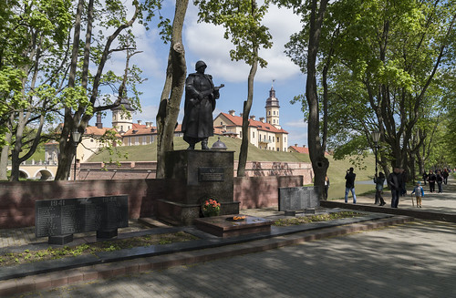 WW2 monument near Nesvizh Castle, 02.05.2014.