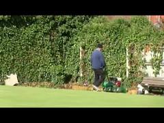 One Man Went to Mow ... (paulcunningham57) Tags: bowlinggreen grass petrolmower man wardendsocialclub graffiti birmingham