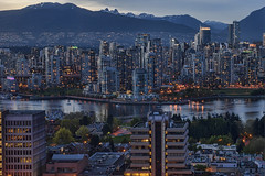 Can Never Get Enough 'couver! (TIA International Photography) Tags: vancouver britishcolumbia canada skyline cityscape skyscraper buildings falsecreek coastmountains bc city metropolis metropolitan mountains urban landscape bluehour illumination lights condominium apartment marina waterfront esplanade promenade highrise sunset dusk peak architecture boat sailboat