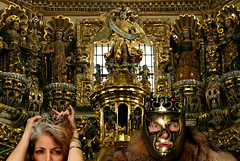 The Unmitigated Decadent Opulence of Breakfast in the Golden Child's Kitchen (Studio d'Xavier) Tags: werehere opulenceotherfancythings youhavetobewealthy thegoldenchild opulence decadence missmarynell luchador luchalibre gold 365 december42016 339366