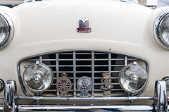 Coronation 1953 (GmanViz) Tags: gmanviz color detail car automobile triumph tr3 grille headlights bumper badges hood nikon d7000