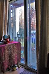 Boho Chic Decor Indoors (blackunigryphon) Tags: bohochic bohodecor bohemian indoors autumn fall gypset window lanterns balcony foliage lantern dreamcatcher