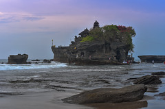 Tanah Lot Temple (Arushad) Tags: arushad bali indonesia travel ancient arushadahmed beach culture dash8x dusk rockformation rocks sunset tanahlot temple tide waves