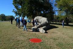 Collapse I - NCMA Grounds Tour - Raleigh, NC (John Meckley) Tags: ncma carolina nc collapse reddot sculpture telamon