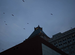 6:14 (Jaygee M.) Tags: downtown building greensboro nc beginning 25mm olympus omd em10