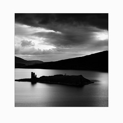 Ardvreck Castle (Frans van Hoogstraten) Tags: assynt scotland castle blackandwhite landscapephotography island contrast remains sutherland