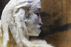 (makeup) (Kazuko Tsukioka) Tags:   white makeup  shaman papersculpture woman