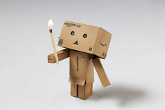 Danbo Fire Safety (vmabney) Tags: danbo danboard toys toysonvacation fire matches