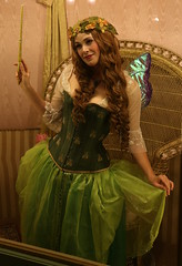 From the 2016 Great Christmas Dickens Fair, in San Francisco, California, it's Lindsay Ferguson as Mopsa the Fairy, modeling for Dark Garden: Unique Corsetry. (beppesabatini) Tags: dickensfair greatchristmasdickensfair greatchristmasdickensfairvictorianholidayparty thegreatchristmasdickensfairvictorianholidayparty redbarnproductions charlesdickens cowpalace dalycity sanfrancisco corsets california cosplay lindsayferguson