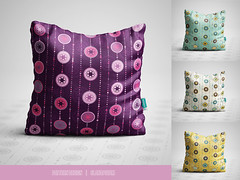 Pattern design for throw pillows (Slanapotam) Tags: pillow surfacedesign pattern patterndesign abstract geometric circle round decoration dot purple yellow teal turquoise set slanapotam design