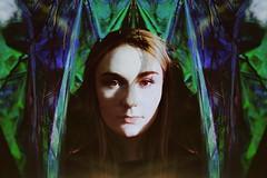 (emmakatka) Tags: psychedelic emmakatka portrait woman girl eyes surreal dreamy light iridescent green blue